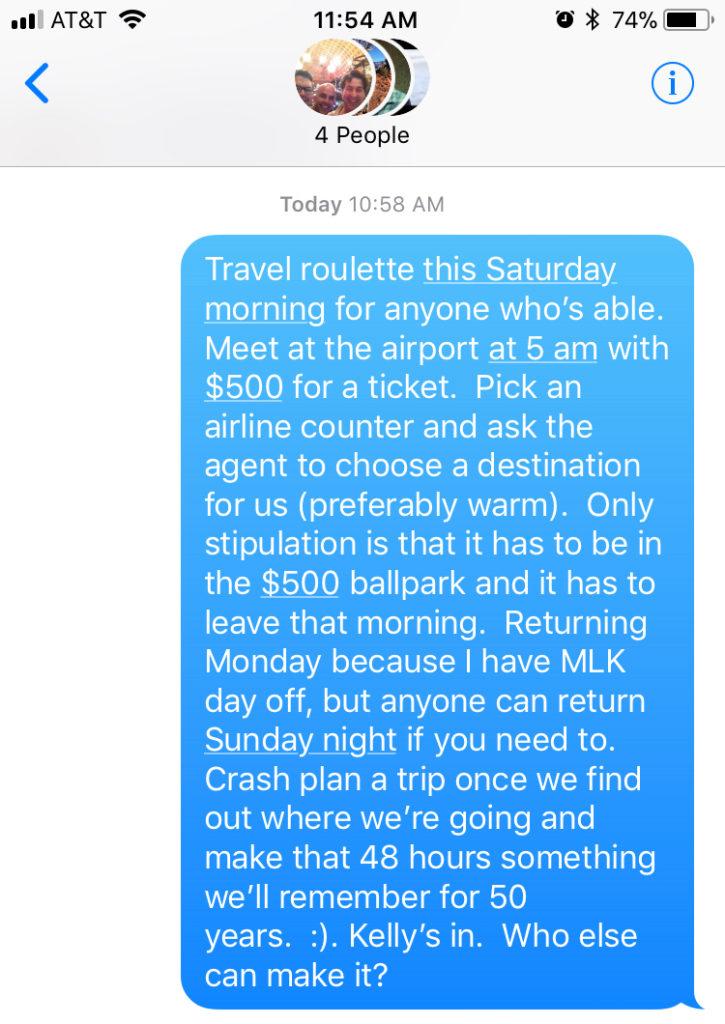 travel roulette